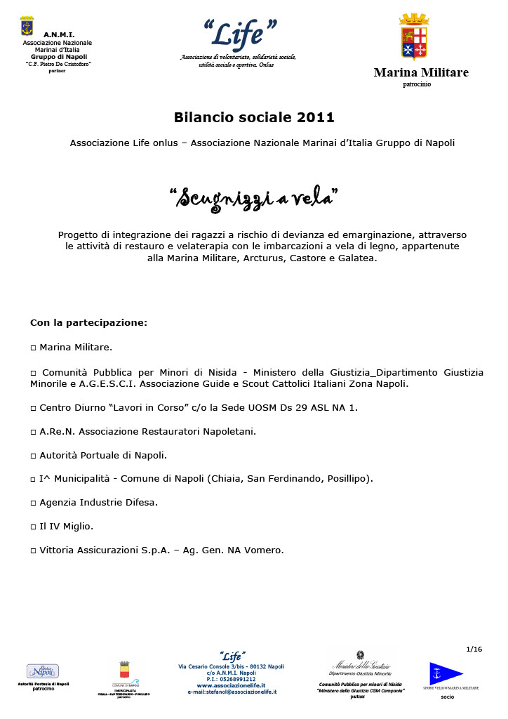 Bilancio Sociale 2011 Scugnizzi a vela associazione Life onlus1024_1
