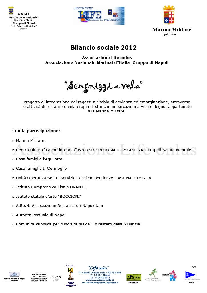 Bilancio Sociale 2012 Scugnizzi a vela associazione Life onlus1024_1