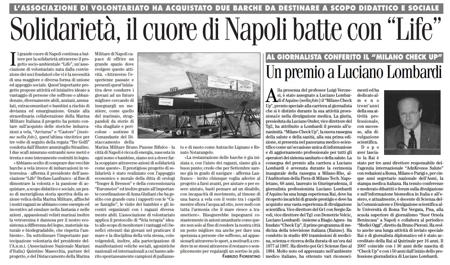 rassegna stampa associazione life onlus - roma